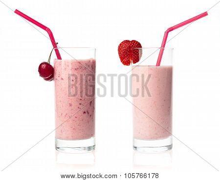 Strawberry And Cherry Milkshake