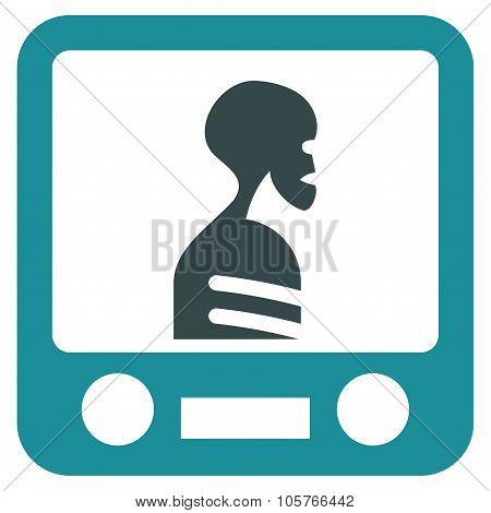 Xray Screening Flat Icon
