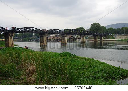 Kanchanaburi, Thailand - January 11, 2015: Bridge On The River Kwai