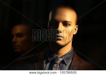 Portrait Of Bald-headed Mannequin