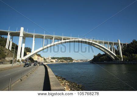 Europe Portugal Porto Ribeira Ponte Da Arrabida