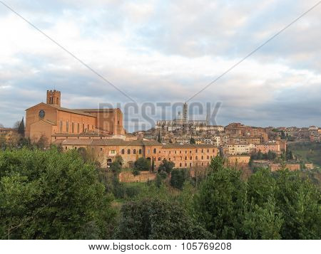 Siena, View Of The City Centre