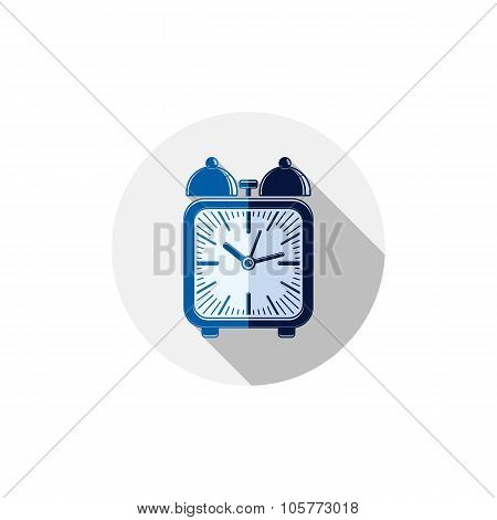 Wake Up Idea Illustration. Classic Three-dimensional Alarm-clock Isolated On White. Table Clock With