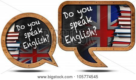 Do You Speak English - Speech Bubbles
