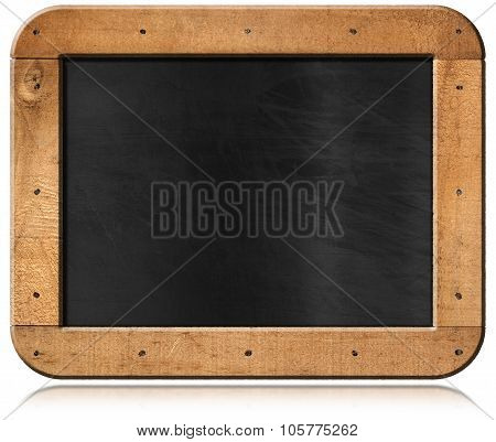 Old Empty Blackboard With Nails