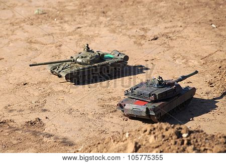Tank Duel On The Ground