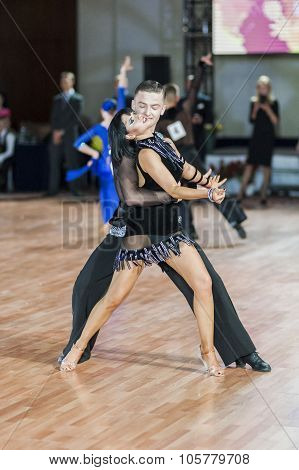 Minsk,belarus-september 27,2015:kulbachynskyy Lyubomyr And Samotiy Zoryana Perform Youth Latin-ameri