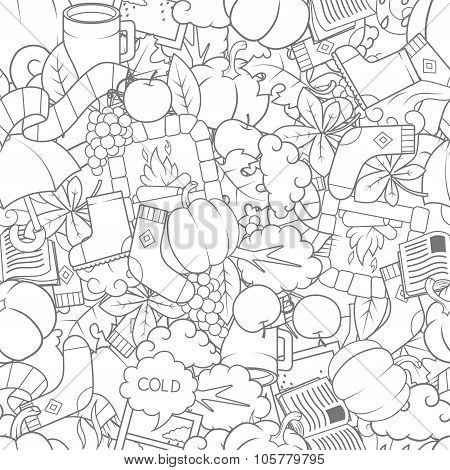 Autumn seamless pattern vector illustration