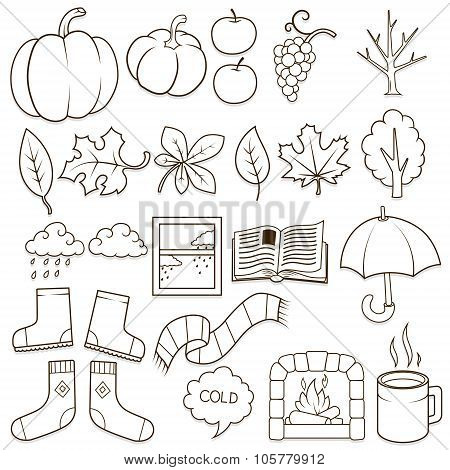 Autumn design elements vector illustration