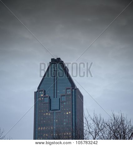 Stormy clouds above a building