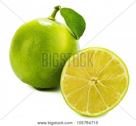 Sweet Lemon with Leaf and Slice