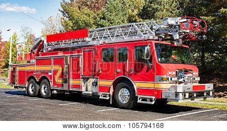 Fire Engine in Park