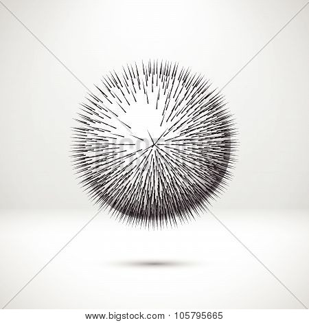 Abstract ball with sharp needles