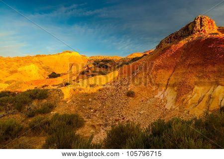 Canyon at sunset