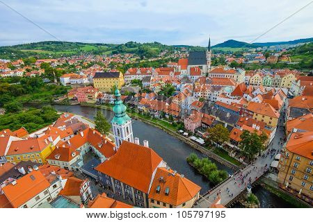 A view of Cesky Krumlov, Czech Republic
