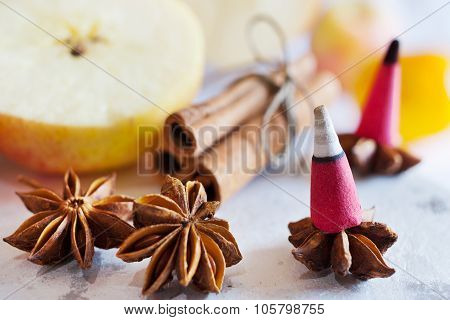 Traditional Czech Christmas - Smoking Incense Cones