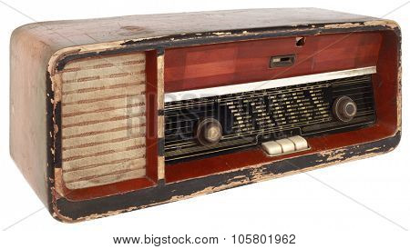 Old Radio Tuner Isolated with Clipping Path