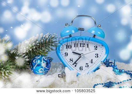 Christmas Decorations And Clock