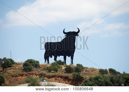 Bull statue on skyline, Fuengirola.