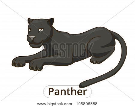 Panther cartoon vector illustration