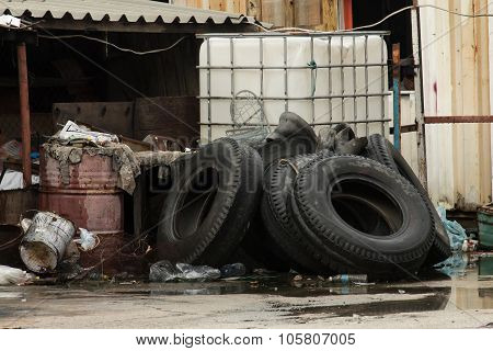 Used Tires In Junkyard