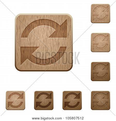 Refresh Wooden Buttons