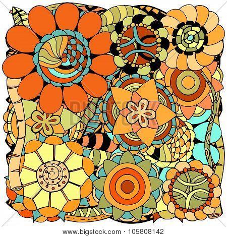 Floral Zentangle
