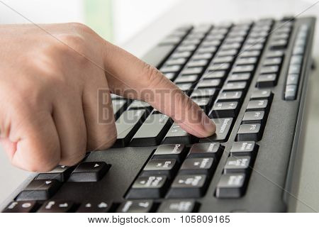 Pressing Backspace