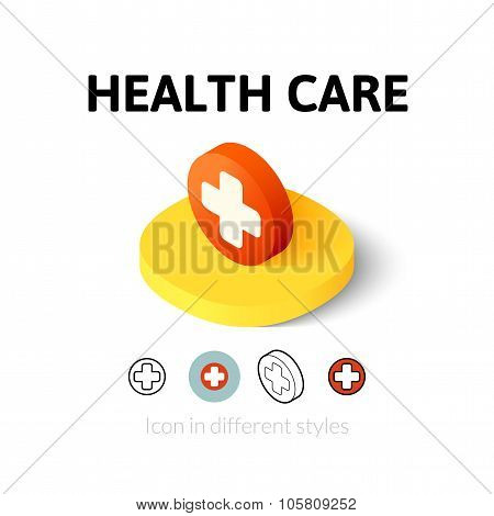 Health care icon in different style
