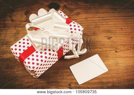 Christmas Gift And Blank Greeting Card
