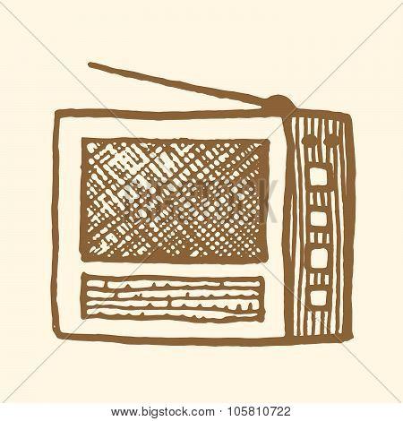 Old radio. Vintage style