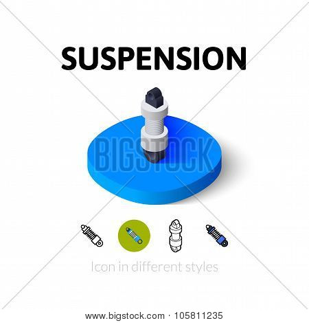Suspension icon in different style