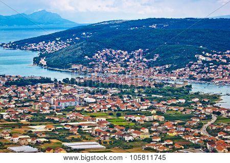 Trogir And Ciovo Island Aerial View