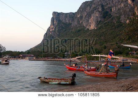 Fishermen Boat In Thailand.