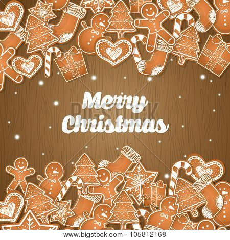 Merry christmas colorful card graphic