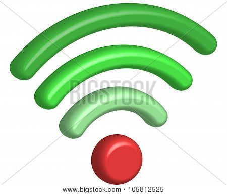 Vector 3D Wifi icon