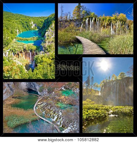 Plitvice Lakes National Park Collage