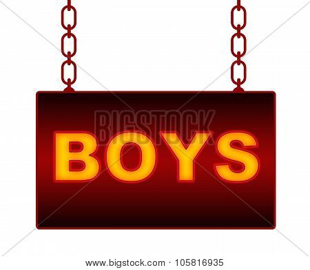Boys Text Neon Signboard