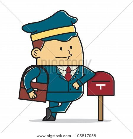 Postman with mailbox