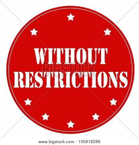 Without Restrictions-stamp