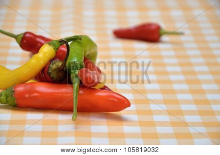 Pile Of Colorful Hot Chilli Papers
