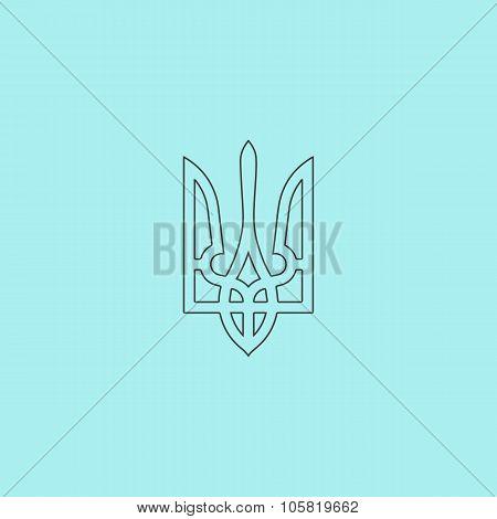 Trident icon, vector illustration