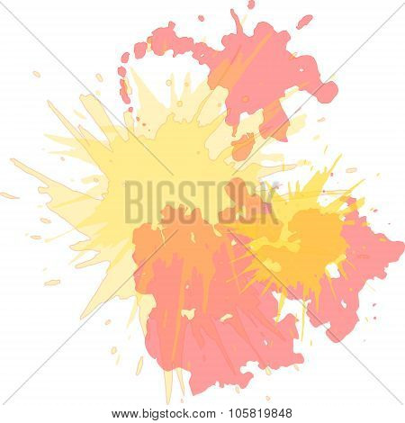 Watercolor blots hand drawn vector background