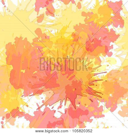 Watercolor blots vector seamless background