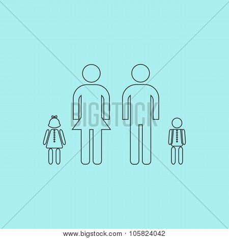 Simple family icon