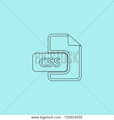 CSS file icon vector.