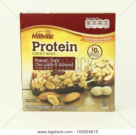 Box Of Millville Protein Bars