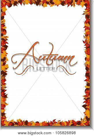 Autumn Letter Background