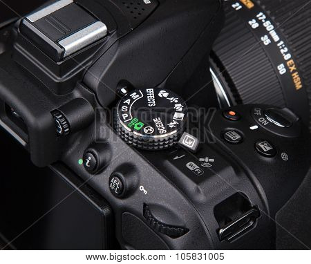 Kyiv, Ukraine - June 19, 2015: Nikon D5300 Camera With Sigma 17-50Mm F2.8 Lens