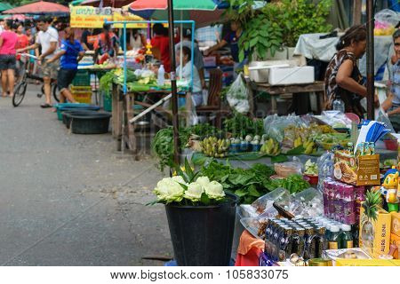 Thai Exotic Vegetables In Market